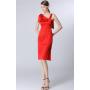 Платье из шелкового стрейч-атласа PLA008