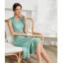 Платье из шелкового стрейч-атласа высокой плотности PLA013A
