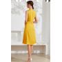 Платье из шелкового стрейч-атласа высокой плотности PLA013