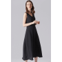 Платье из шелкового двойного крепа PLA018