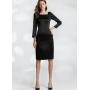 Платье из шелкового стрейч-атласа высокой плотности PLA020