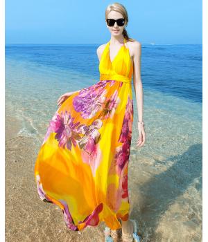 Платье из шелкового шифона PLA021A