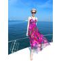 Платье из шелкового шифона PLA022