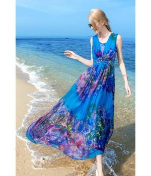 Платье из шелкового шифона PLA023