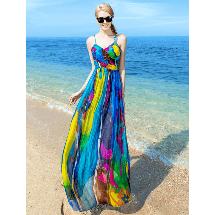 Платье из шелкового шифона PLA026