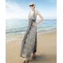 Платье из шелкового шифона PLA030