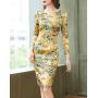 Платье из шелкового стрейч-атласа PLA032