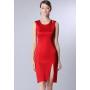 Платье из шелкового стрейч-атласа PLA033