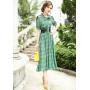 Платье из шелкового крепдешина PLA037
