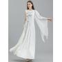 Платье из шелкового атласа высокой плотности PLA038
