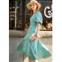 Платье из шелкового стрейч-атласа высокой плотности PLA039