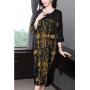 Платье из шелкового атласа высокой плотности PLA040