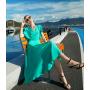 Платье из натурального двойного крепа PLA043