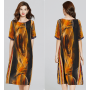 Платье из натурального шелкового атласа PLA044