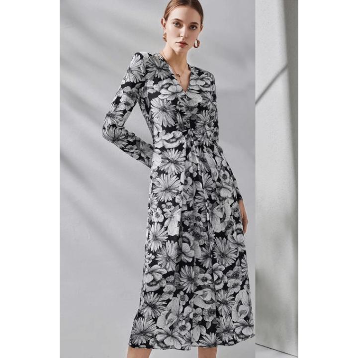 Платье из шелкового крепдешина PLA046