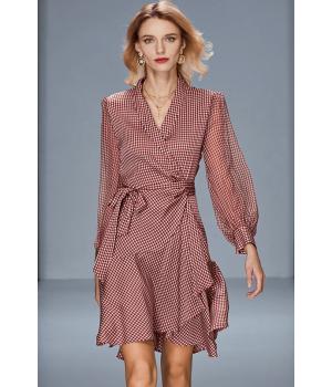 Платье из двойного стрейч-крепа высокой плотности PLA047
