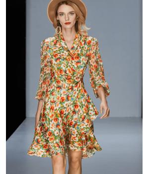 Платье из двойного стрейч-крепа высокой плотности PLA048