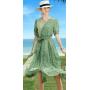 Платье из шелкового крепдешина PLA048