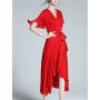 Платье из двойного крепа высокой плотности PLA049