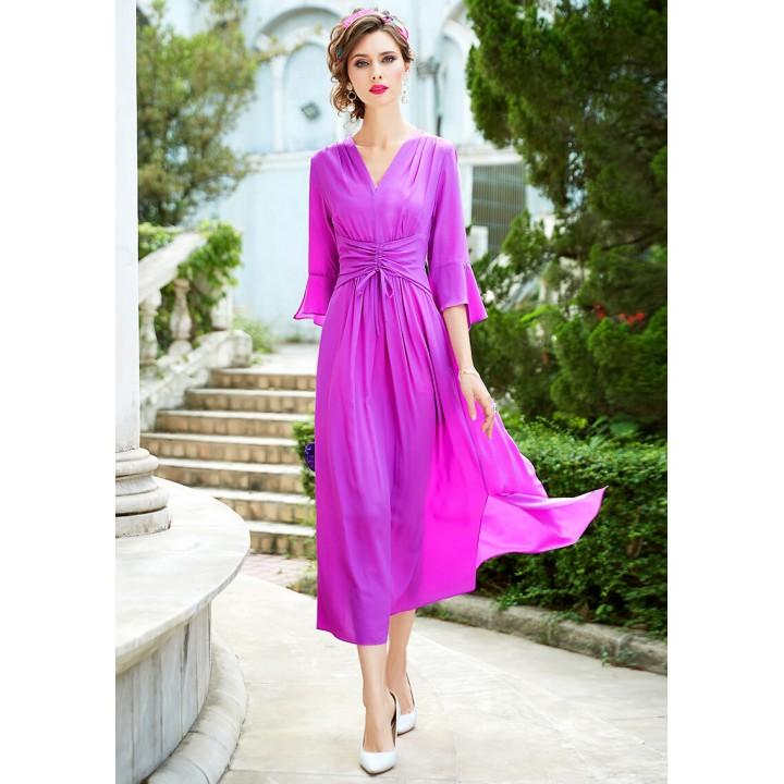 Платье из шелкового крепдешина PLA050