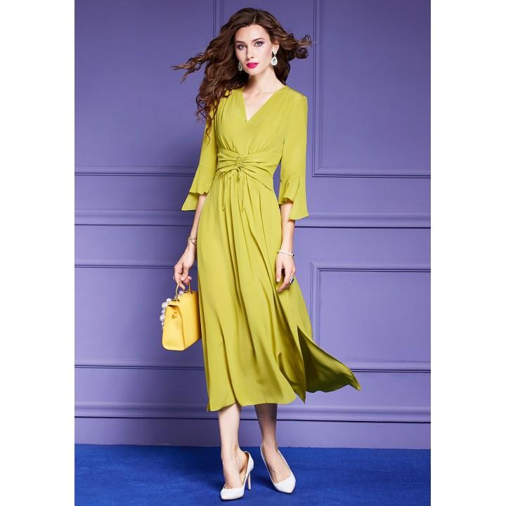 Платье из шелкового крепдешина PLA050A