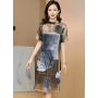 Платье из шелкового стрейч-атласа PLA051
