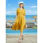 Платье из шелкового стрейч-атласа высокой плотности PLA053