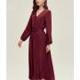 Платье из натурального двойного крепа PLA059