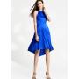 Платье из шелкового стрейч-атласа высокой плотности PLA065
