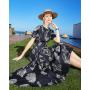Платье из шелкового атласа супер-высокой плотности PLA067
