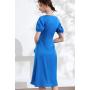 Платье из шелкового стрейч-атласа высокой плотности PLA068
