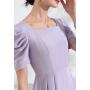 Платье из шелкового атласа супер-высокой плотности PLA069