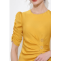 Платье из шелкового стрейч-атласа высокой плотности PLA070