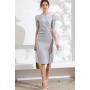 Платье из шелкового стрейч-атласа высокой плотности PLA070A