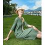 Платье из шелкового двойного крепа PLA072