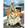 Платье из шелкового крепдешина PLA073