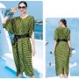 Платье из шелкового стрейч-атласа PLA074