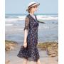 Платье из шелкового шифона PLA078