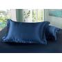 Шелковое постельное белье-цвет синий HL19031