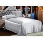 Шелковое постельное белье-цвет стальной HL19033