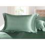 Шелковое постельное белье-цвет оливковый HL19035