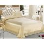 Шелковое постельное белье-цвет молочный HL19036