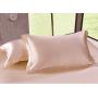 Шелковое постельное белье-цвет персиковый HL19037