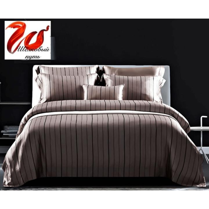 """Элитное шелковое постельное белье супер-высокой плотности """"Афина"""" HL19042"""