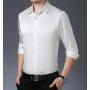 Мужская рубашка из шелкового стрейч-атласа RUB001A