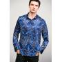 Мужская рубашка из шелкового стрейч-атласа RUB002