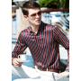 Мужская рубашка из шелкового стрейч-атласа RUB005