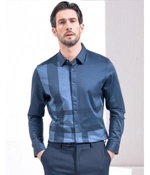 Мужская рубашка (натуральный шелк+хлопок) RUB008