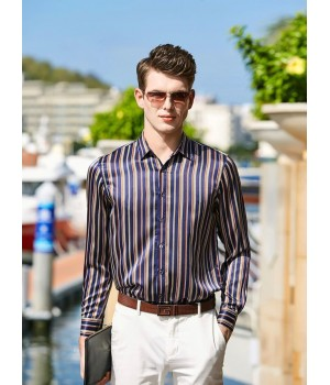 Мужская рубашка из 100% шелкового стрейч-атласа RUB009