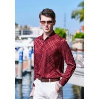 Мужская рубашка из шелкового стрейч-атласа RUB010
